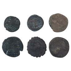 Ancient Coins Mixed Figural Roman Artifacts Lot of 6 B10041