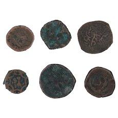 Ancient Coins Mixed Figural Roman Artifacts Lot of 6 B10042