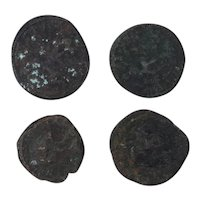 Ancient Coins Mixed Figural Roman Artifacts Lot of 4 B10043