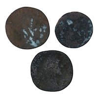 Ancient Coins Mixed Figural Roman Artifacts Lot of 3 B10044
