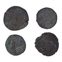 Ancient Coins Mixed Figural Roman Artifacts Lot of 4 B10046