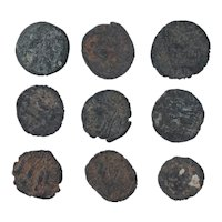 Ancient Coins Mixed Figural Roman Artifacts Lot of 9 B10053