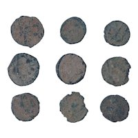 Ancient Coins Mixed Figural Roman Artifacts Lot of 9 B10055
