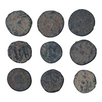 Ancient Coins Mixed Figural Roman Artifacts Lot of 9 B10056