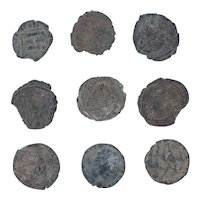 Ancient Coins Mixed Figural Roman Artifacts Lot of 9 B10057
