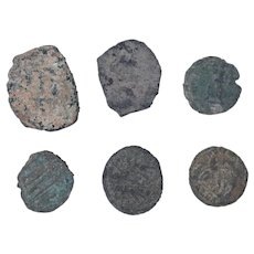 Ancient Coins Mixed Figural Roman Artifacts Lot of 6 B10058