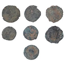 Ancient Coins Mixed Figural Roman Artifacts Lot of 7 B10059