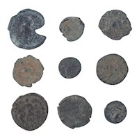 Ancient Coins Mixed Figural Roman Artifacts Lot of 9 B10060