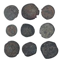 Ancient Coins Mixed Figural Roman Artifacts Lot of 9 B10062