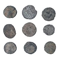 Ancient Coins Mixed Figural Roman Artifacts Lot of 9 B10063