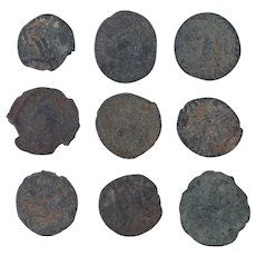 Ancient Coins Mixed Figural Roman Artifacts Lot of 9 B10065