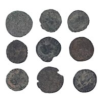 Ancient Coins Mixed Figural Roman Artifacts Lot of 9 B10066