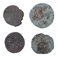 Ancient Coins Mixed Figural Roman Artifacts Lot of 4 B10074
