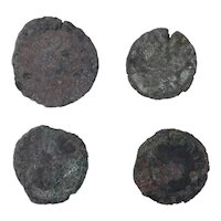 Ancient Coins Mixed Figural Roman Artifacts Lot of 4 B10076