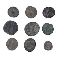Ancient Coins Mixed Figural Roman Artifacts Lot of 9 B10084