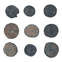 Ancient Coins Mixed Figural Roman Artifacts Lot of 9 B10085