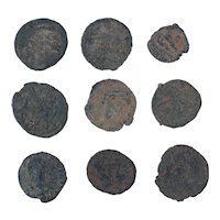 Ancient Coins Mixed Figural Roman Artifacts Lot of 9 B10091