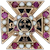 Alpha Tau Omega Badge - 10k Gold Rubies Pearls Pins Fraternity Cross Pin