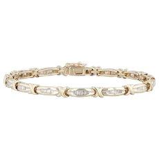 "1ctw Diamond Tennis Bracelet 10k Yellow Gold 7"" 4.1mm"