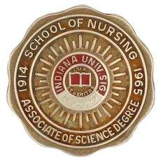 Indiana University School of Nursing Pin - 10k Yellow Gold Class Bicentennial