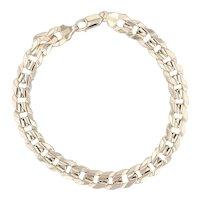 "Men's Curb Chain Bracelet 10k Yellow Gold 9.5"" 8.4mm 18.6g"
