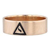 14th Degree Scottish Rite Yod Ring 10k Gold Size 10.5 Band Masonic Men's