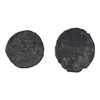 Ancient Roman Radiate Coins Figural Artifacts Mixed Lot of 2 B12322