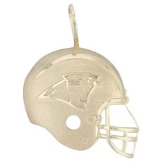 Carolina Panthers Football Helmet Pendant - 14k Yellow Gold NFL Team Keepsake