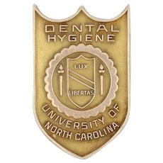 UNC Dental Hygiene Pin - 10k Yellow Gold University of North Carolina Seal