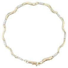 ".50ctw Diamond Tennis Bracelet - 14k Yellow Gold 7.5"" 4mm Women's Vintage"