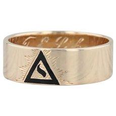 14th Degree Yod Ring - 14k Yellow Gold Size 9.5 -9.75 Masonic Scottish Rite