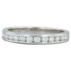 .47ctw Diamond Wedding Band - 14k White Gold Size 7 Ring Women's Bridal