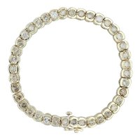 "8.75ctw Diamond Tennis Bracelet - 14k Yellow Gold 7.5"" 6.1mm Champagne Diamonds"