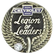 Chevrolet Legion of Leaders Diamond Pin - 10k Gold Car Company Service Award
