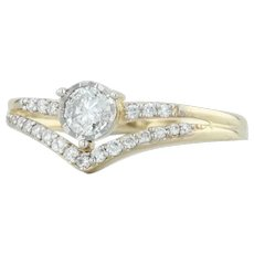 .30ctw Diamond Ring - 10k Yellow Gold Size 6.25 Engagement Wedding
