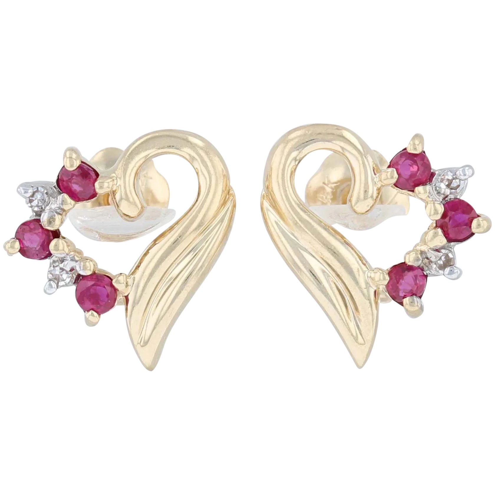 Solid 14k Gold Hooks and Ardent Red Topaz of 39 Carats Earrings