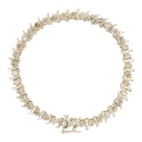 "3.70ctw Champagne Diamond Tennis Bracelet - 14k Yellow Gold 7.25"" 5.7mm"