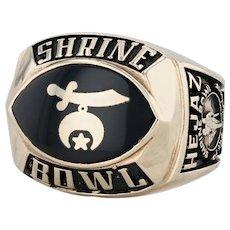 Shrine Bowl Ring 2001 - 10k Yellow Gold Size 12 Championship Carolinas Football