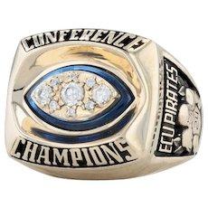 Eastern Carolina Football Conference Champions Ring - 14k Gold Size 13 ECU