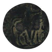 Ancient Copper Coin Kushan Empire Kushans Vima I Takto 55105 AD AE Tetradracm