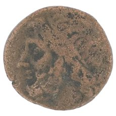 Ancient Greek Coin 257212 Bronze Poseidon Trident Sicily Greece