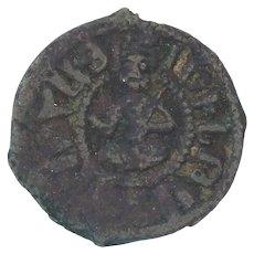 Medieval Armenian Empire Coin AE Pogh 13011307 AD Levon III Copper Kardez