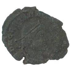 Ancient Roman Empire Copper Coin Gratian 367383 AD AE 3 Arles Mint Emperor
