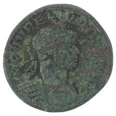 Ancient Roman Empire Coin 270275 AD Aurelian Copper Emperor Empress