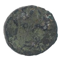 Ancient Greek Empire Coin 18731 BC Amphipolis AE 21 Janus Centaurs Copper