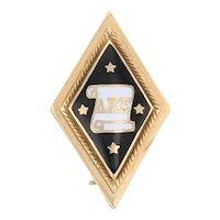 Antique Delta Kappa Epsilon Badge 14k Gold DKE Deke Pin Greek Fraternity