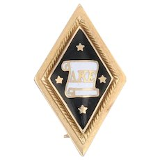 Antique Delta Kappa Epsilon Badge 14k Gold DKE Deke Pin Greek Fraternity