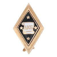 Antique Delta Kappa Epsilon Badge 10k Gold DKE Deke Pin Greek Fraternity 1909