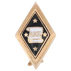 Antique Delta Kappa Epsilon Badge 10k Gold DKE Deke Pin Greek Fraternity 1909