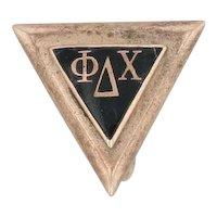 Phi Delta Chi Pin 10k Gold Pharmacy Fraternity Vintage Greek Society Badge
